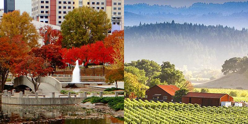 Charlotte North Carolina and Napa California
