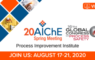 2020 Virtual AIChE Spring Meeting/GCPS | Process Improvement Institute