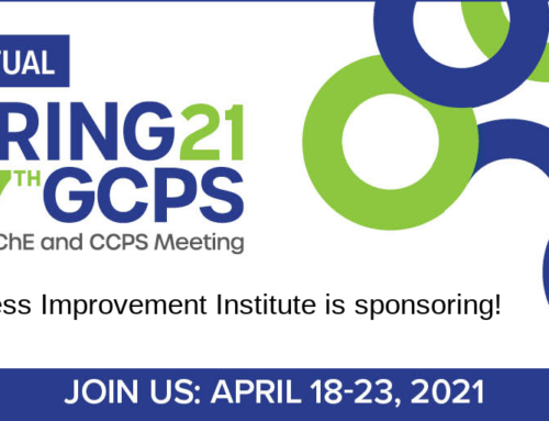 Join Process Improvement Institute's Activity at 2021 AIChE Virtual Spring Meeting and 17th GCPS | April 19, 2021
